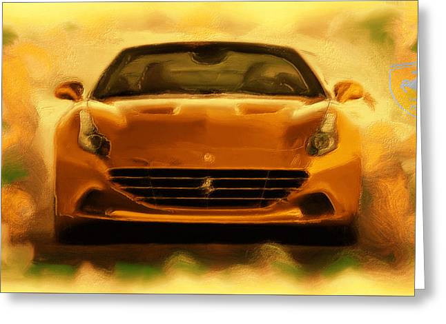 French Open Paintings Greeting Cards - Ferrari California T Greeting Card by Brian Reaves