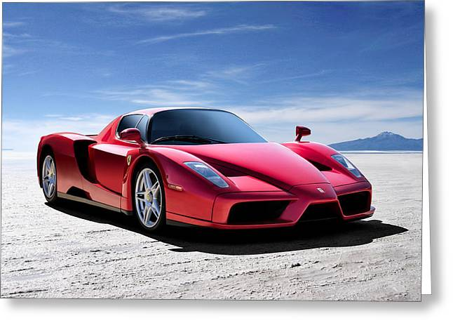 Extreme Greeting Cards - Ferrari Enzo Greeting Card by Douglas Pittman