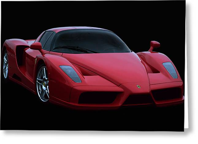 Peter Chilelli Greeting Cards - Ferrari Enzo V12 Greeting Card by Peter Chilelli