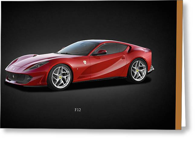 Italy Photographs Greeting Cards - Ferrari F12 Greeting Card by Mark Rogan