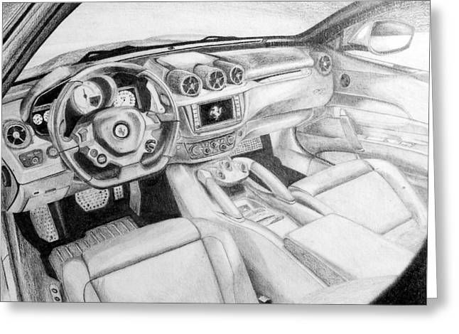 Ferrari 250 Gto Greeting Cards - Leather leather everywhere Greeting Card by Richard Bougaardt