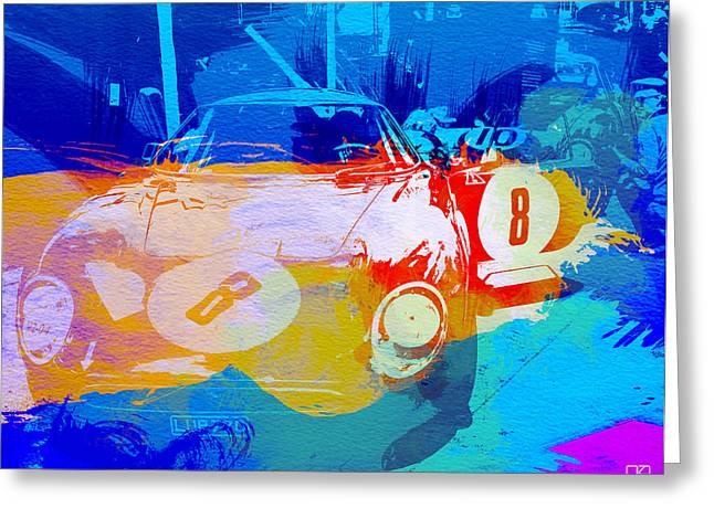 Cylinder Greeting Cards - Ferrari pit stop Greeting Card by Naxart Studio