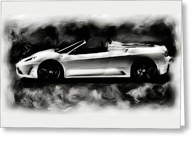 French Open Paintings Greeting Cards - Ferrari Scuderia Spider Greeting Card by Brian Reaves
