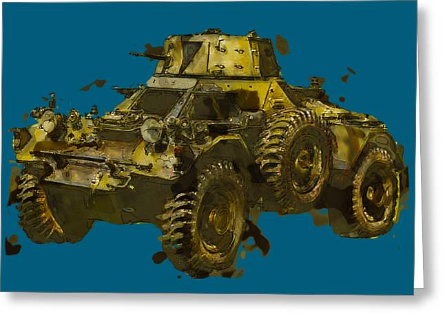 Ferret Greeting Cards - Ferret Scout Car Greeting Card by Roy Pedersen