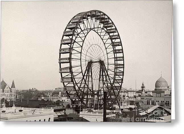 Beaux-arts Greeting Cards - Ferris Wheel, 1893 Greeting Card by Granger