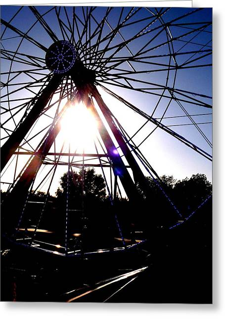 Contrast Greeting Cards - Ferris Wheel 2 Greeting Card by Tim Tanis