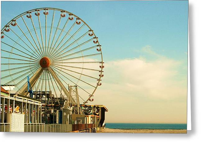 Wildwood Greeting Cards - Ferris Wheel Greeting Card by Amanda Romolini