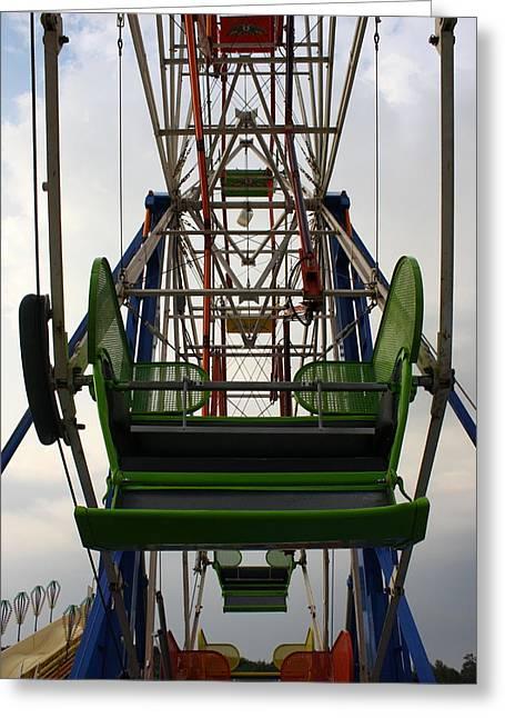 Fund Raiser Greeting Cards - Ferris Wheel Greeting Card by Anne Babineau