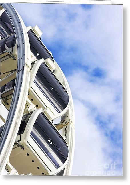 Ferris Wheel Carts Greeting Card by Jorgo Photography - Wall Art Gallery