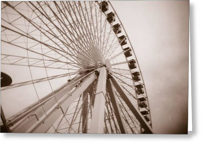 Kansas City Photographer Greeting Cards - Ferris Wheel Greeting Card by Crystal Nederman