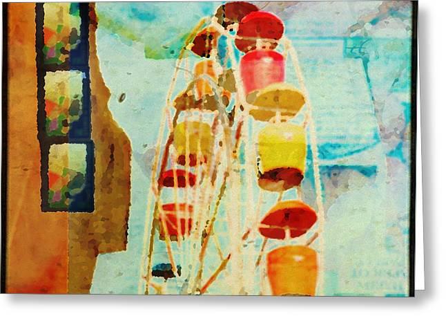 Ferris Wheel Fun Greeting Card by Toni Hopper