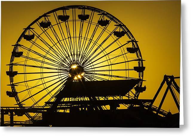 Ferris Wheel Greeting Cards - Ferris Wheel Greeting Card by Garry Gay