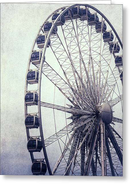 Amusements Greeting Cards - Ferris Wheel Greeting Card by Joana Kruse