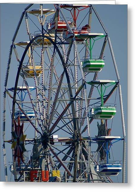 Amusements Greeting Cards - Ferris wheel Greeting Card by Kenneth Summers