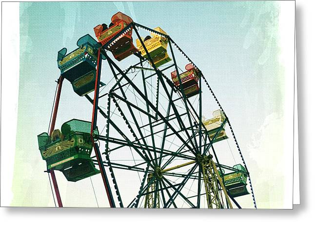 Amusements Greeting Cards - Ferris Wheel Greeting Card by Nina Prommer
