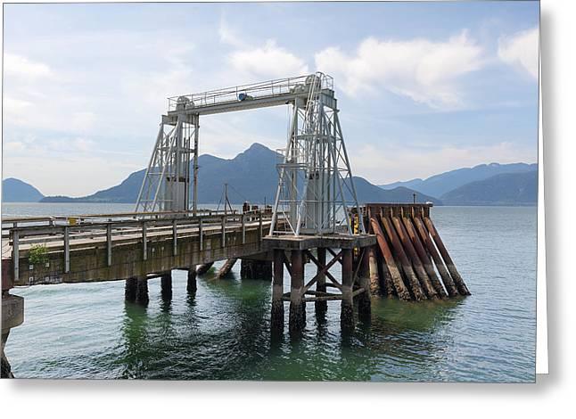 Porteau Cove Provincial Park Greeting Cards - Ferry Dock and Pier at Porteau Cove Greeting Card by Jpldesigns