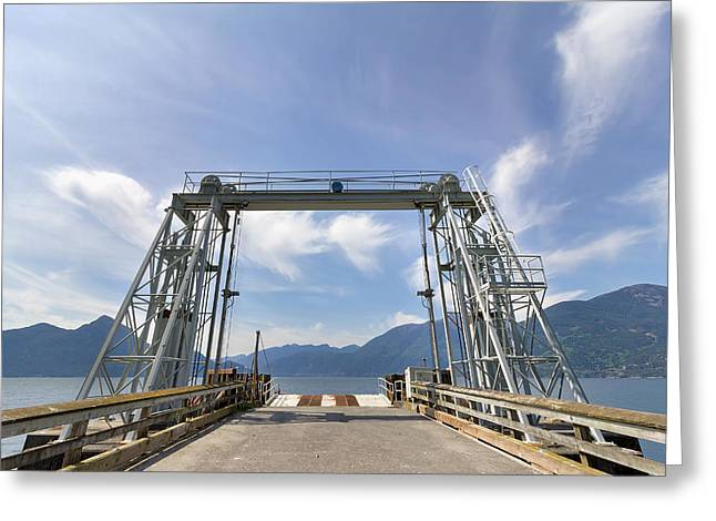 Porteau Cove Greeting Cards - Ferry Dock at Porteau Cove Greeting Card by Jpldesigns