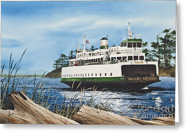 San Juan Prints Greeting Cards - Ferry ILLAHEE Greeting Card by James Williamson