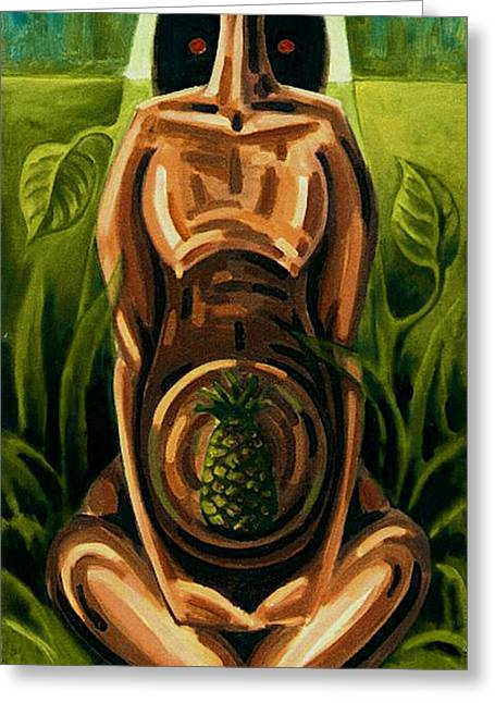 Pregnancy Paintings Greeting Cards - Fertilidad Greeting Card by Samuel Lind