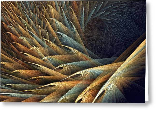 Festivities Greeting Cards - Festival of Fractal Feathers Greeting Card by Doug Morgan