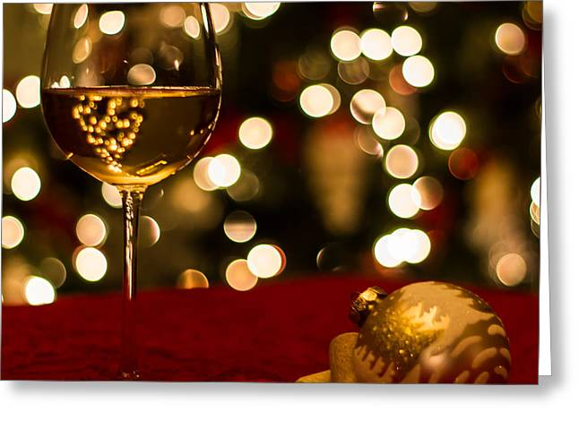Festive Night Greeting Card by Brian Manfra