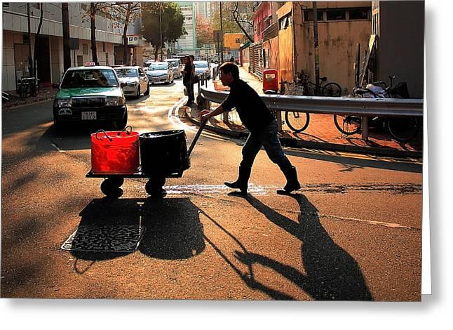 At Work Greeting Cards - Fetching Water Greeting Card by Janet Pancho Gupta