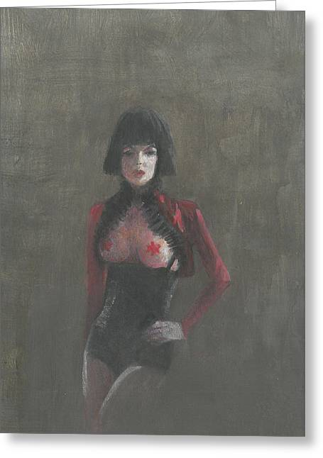 Dominatrix Greeting Cards - Fetish Artist Greeting Card by Lincoln Seligman