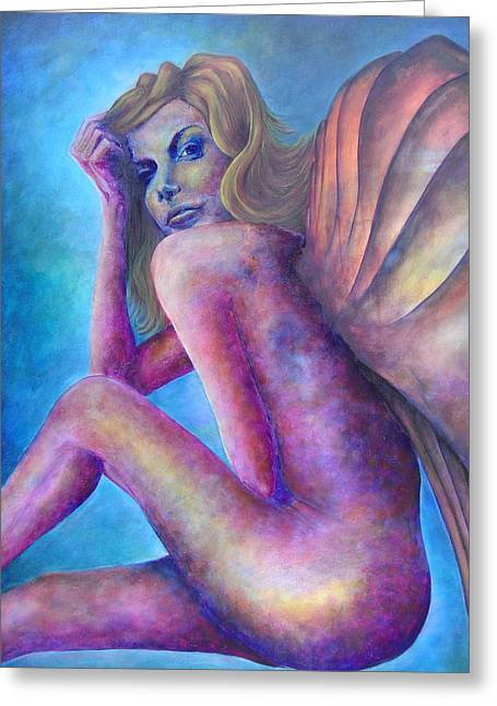 Person Pastels Greeting Cards - Fey Greeting Card by Stephanie Cook