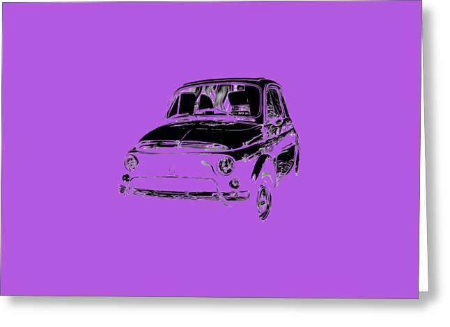 Tees Greeting Cards - Fiat 500 2 Tee Greeting Card by Edward Fielding