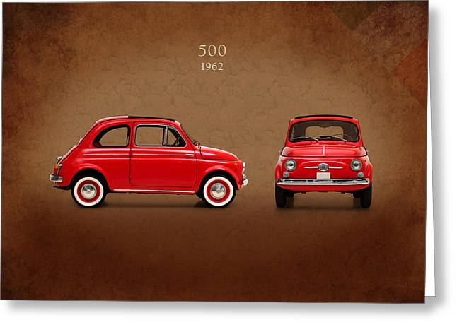 Classic Fiat Greeting Cards - Fiat 500 D 1960 Greeting Card by Mark Rogan