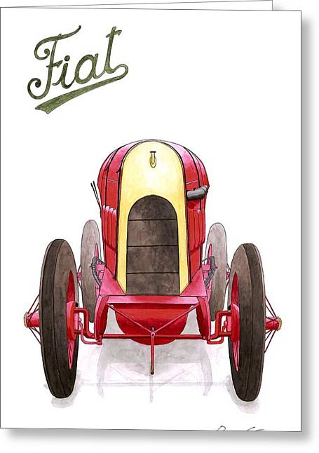 Record Breaker Greeting Cards - FIAT S.76 The beast of Turin Greeting Card by Domingo Gorriz