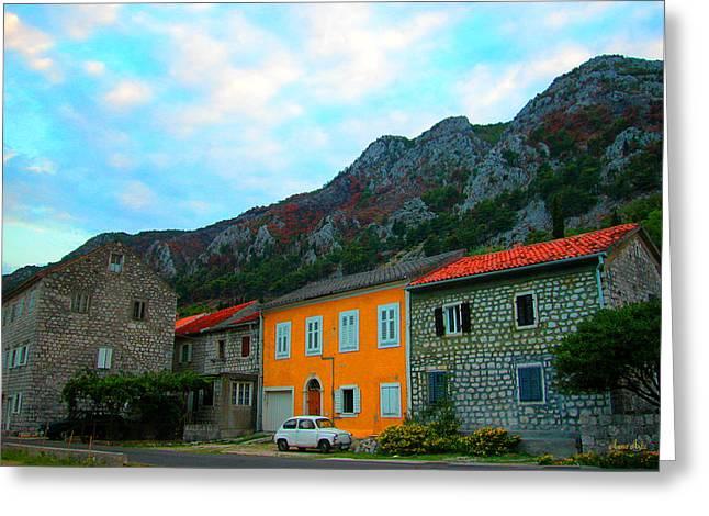 Marko Mitic Greeting Cards - Fica Montenegro Coast Greeting Card by Marko Mitic