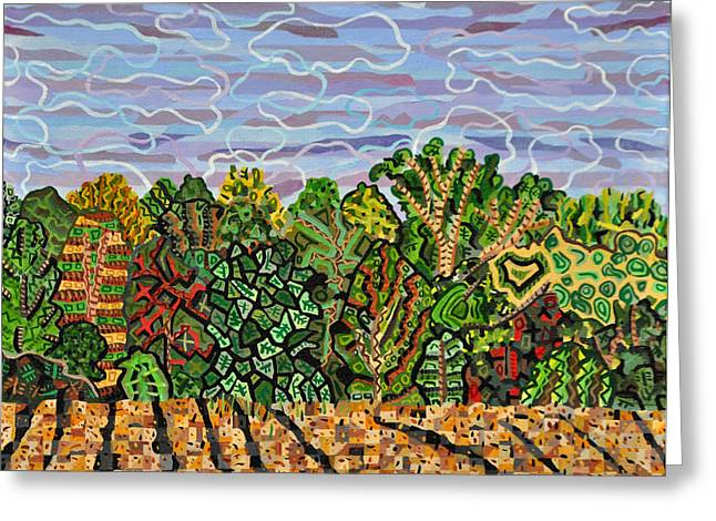 Plowing Field Greeting Cards - Field at Watkins Road Greeting Card by Micah Mullen