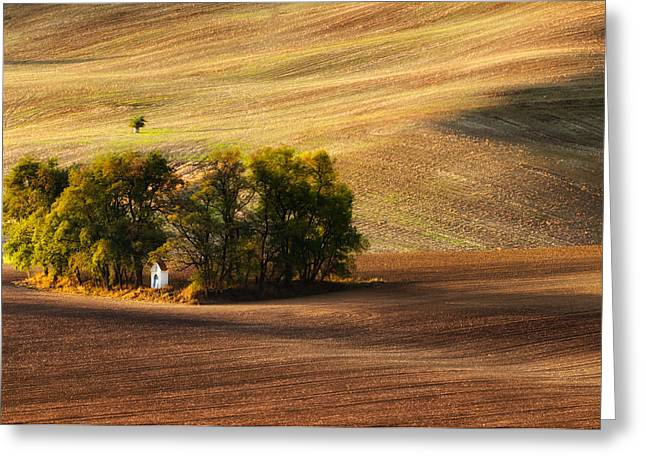 Moravia Greeting Cards - Field Chapel Greeting Card by Piotr Krol (bax)