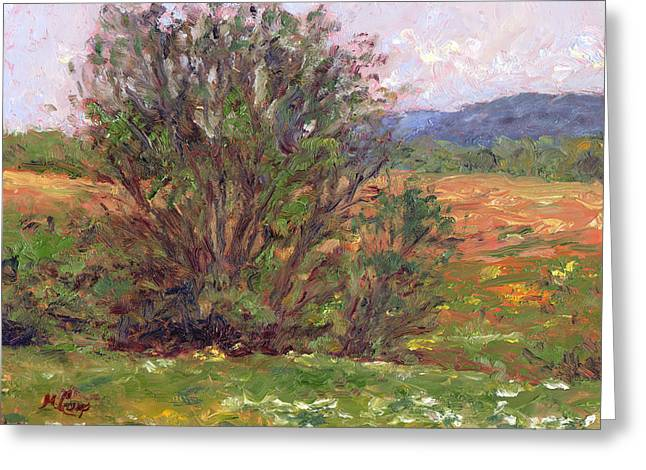 Field In Spring Greeting Card by Michael Camp