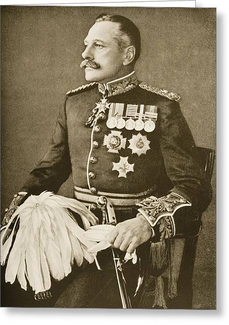 Bravery Greeting Cards - Field Marshal Sir Douglas Haig Greeting Card by Ken Welsh