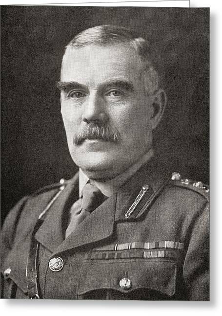 Wwi Greeting Cards - Field Marshal Sir William Robert Greeting Card by Ken Welsh