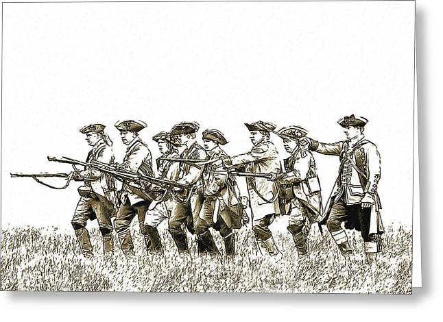 Citizens Greeting Cards - Field Of Battle Soldier Sketch Greeting Card by Randy Steele