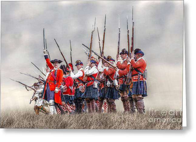 Field Of Battle The Charge Greeting Card by Randy Steele