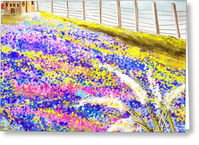 State Flowers Greeting Cards - Field Of Blue - Bluebonnet Art Greeting Card by Lourry Legarde