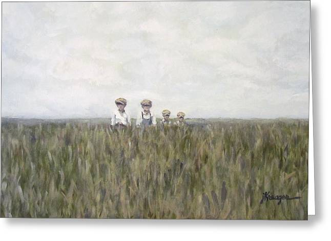 Recently Sold -  - Farmers Field Greeting Cards - Field of Dreams Greeting Card by Jaime Harrison
