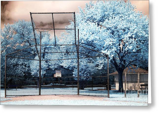 American Pastime Greeting Cards - Field of Dreams Greeting Card by John Rizzuto