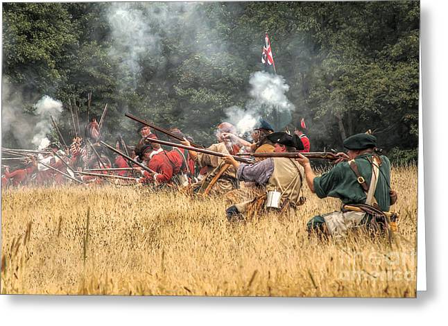 Citizens Greeting Cards - Field of Fire French and Indian War Battle Greeting Card by Randy Steele