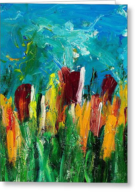 Field Of Flowers  Greeting Card by Empowered Creative Fine Art
