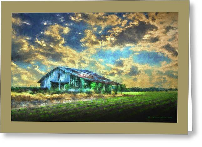 Field Of Green Greeting Card by Marvin Spates
