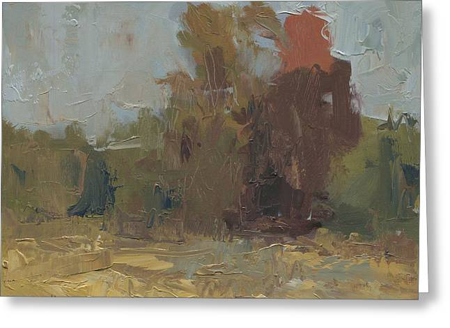 Fields Edge In Autumn Greeting Card by John Holdway