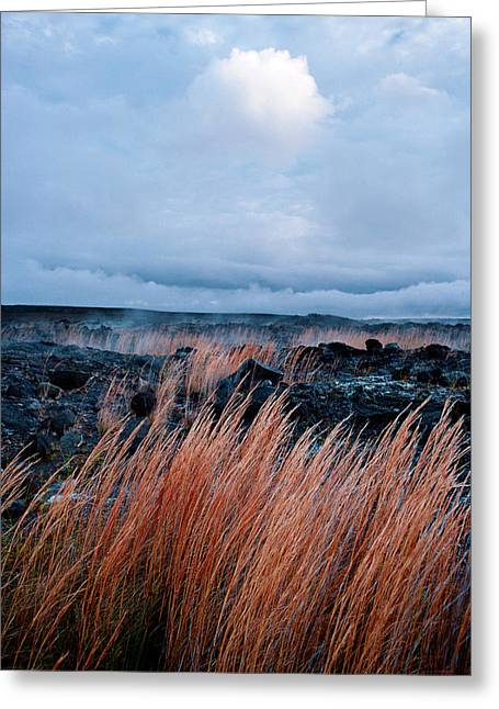 Pele Greeting Cards - Fields of fire Greeting Card by Gary Cloud