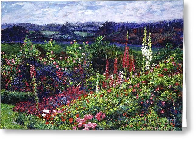 Fields Of Floral Splendor Greeting Card by David Lloyd Glover