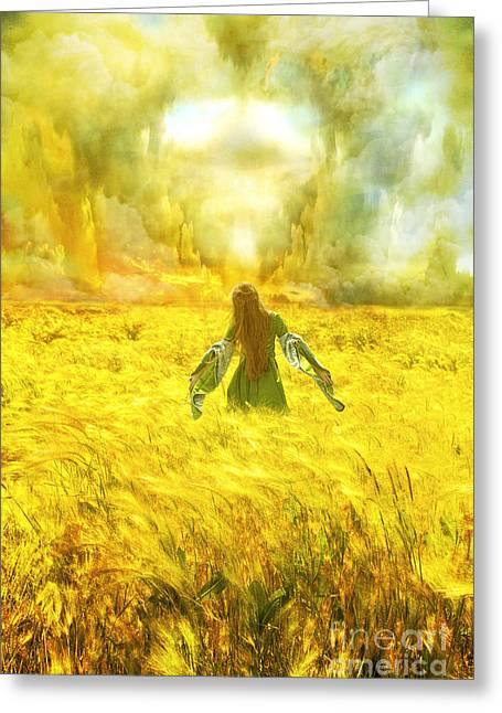 Heaven Digital Greeting Cards - Fields of Gold Greeting Card by Eugene James