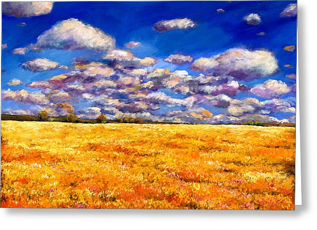 Southwest Greeting Cards - Fields of Gold Greeting Card by Johnathan Harris